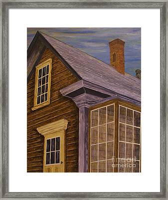 Framed Print featuring the painting You Can Always Go Home by Jane Chesnut