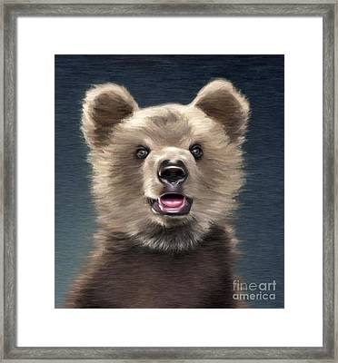 Young Brown Bear Framed Print