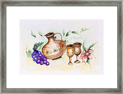 Young French Wine  Framed Print by Irina Gromovaja