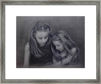 Young Sisters Framed Print by Colleen Gallo