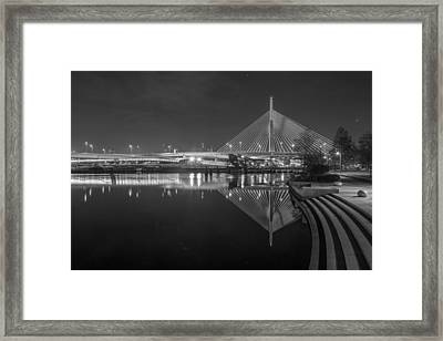 Zakim In Black And White Framed Print