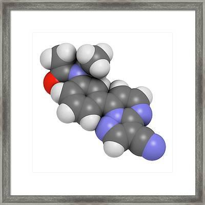Zaleplon Hypnotic Drug Molecule Framed Print
