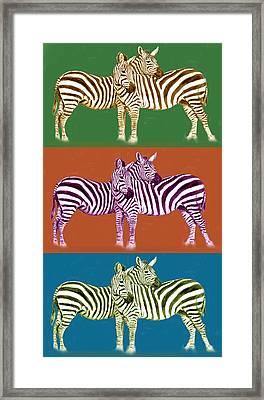 Zebra - Stylised Drawing Art Poster Framed Print