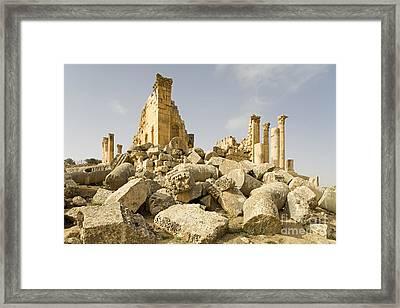 Zeus Temple, Gerasa, Jordan Framed Print