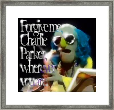 Zoot - Charlie Parker Framed Print by Marcello Cicchini
