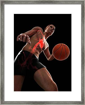 Basketball Player Framed Print by Sciepro/science Photo Library