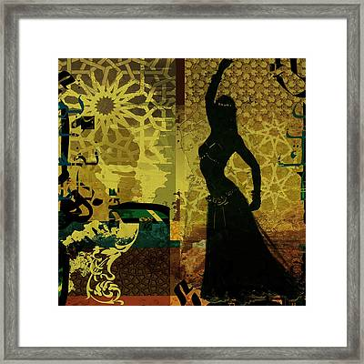 Abstract Belly Dancer 4 Framed Print