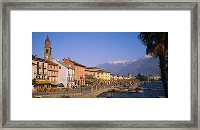 Buildings At The Waterfront, Lake Framed Print by Panoramic Images