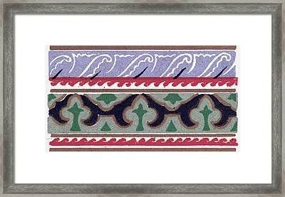 Byzantine Ornament Framed Print by Litz Collection