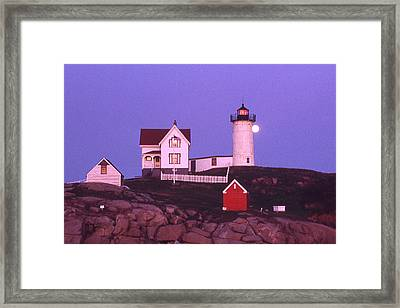 Cape Neddick Light Framed Print by Herbert Gatewood
