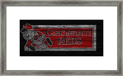 Cincinnati Reds Framed Print by Joe Hamilton