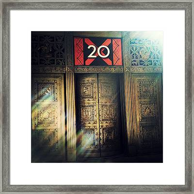 20 Exchange Place Art Deco Framed Print by Natasha Marco