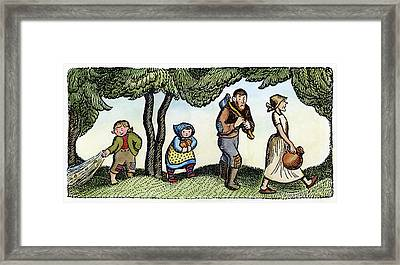 Grimm Hansel And Gretel Framed Print