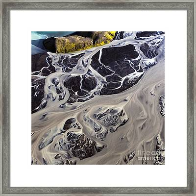 Iceland Aerial Photo Framed Print