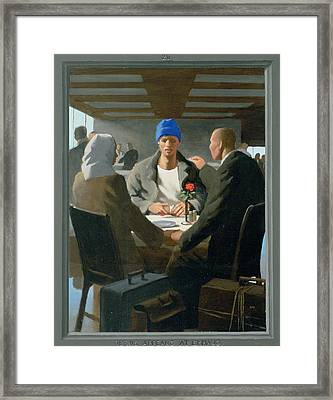 20. Jesus Appears At Emmaus / From The Passion Of Christ - A Gay Vision Framed Print by Douglas Blanchard