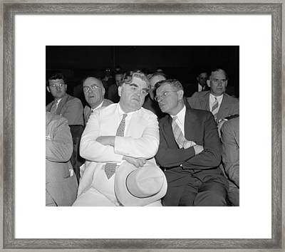Framed Print featuring the photograph John Llewellyn Lewis (1880-1969) by Granger