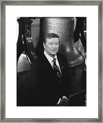 John Wayne Framed Print by Retro Images Archive