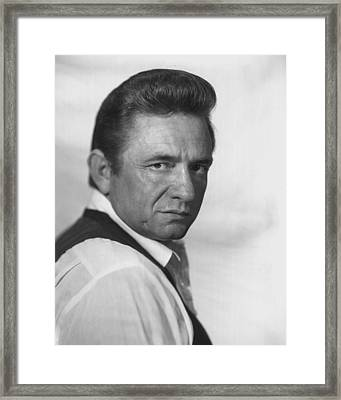 Johnny Cash Framed Print
