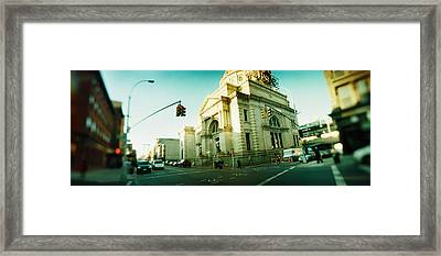 Low Angle View Of Buildings In A City Framed Print