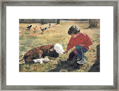 Framed Print featuring the painting 20 Minute Orphan by Lori Brackett