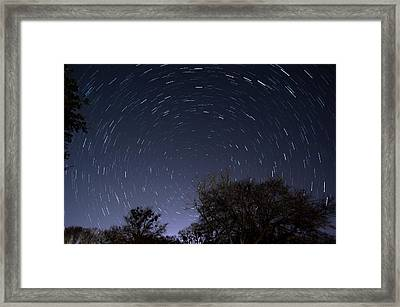 Framed Print featuring the photograph 20 Minutes Of Star Movement by Todd Aaron