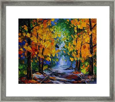 Autumn Landscape Framed Print by Willson Lau