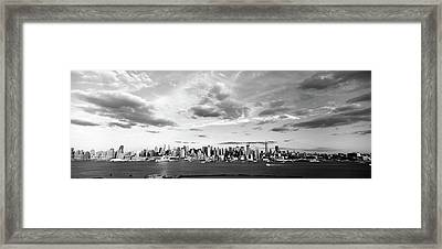 Skyscrapers At The Waterfront Framed Print by Panoramic Images