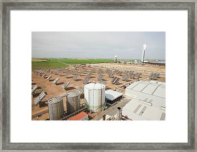 The Ps20 Solar Thermal Tower Framed Print by Ashley Cooper