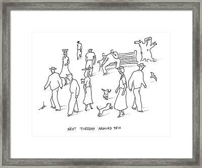 Next Tuesday Framed Print by Erik Hilgerdt