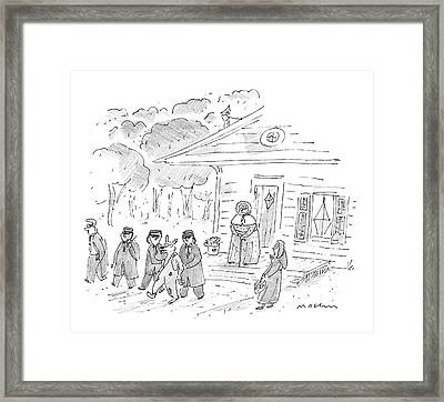 My, My, Grandma, What Tight Security You Have! Framed Print
