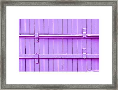 Wooden Background Framed Print by Tom Gowanlock