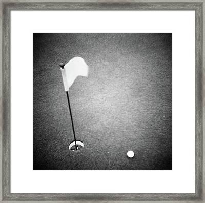 2000s Golf Ball On Putting Green Framed Print