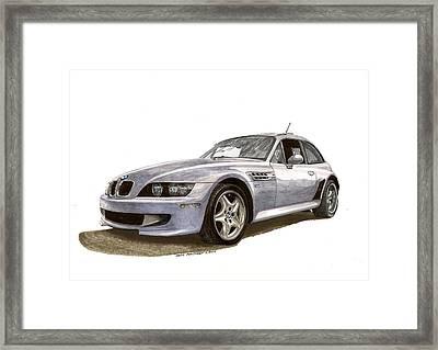 B M W M Coupe 2001 Framed Print by Jack Pumphrey