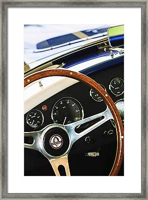 2001 Shelby Cobra Replica Steering Wheel Emblem Framed Print by Jill Reger