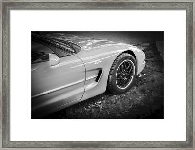 2002 Chevrolet Corvette Z06 Bw Framed Print