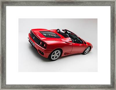 Framed Print featuring the photograph 2002 Ferrari 360 Spider by Gianfranco Weiss