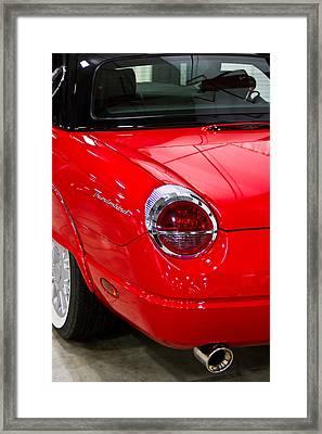 2002 Red Ford Thunderbird-rear Left Framed Print