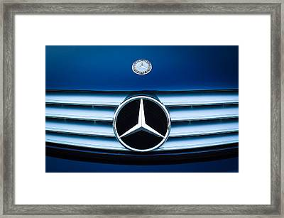 2003 Cl Mercedes Hood Ornament And Emblem Framed Print by Jill Reger