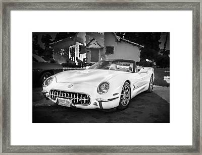 2003 Corvette Commemorative Edition 53ce Bw Framed Print
