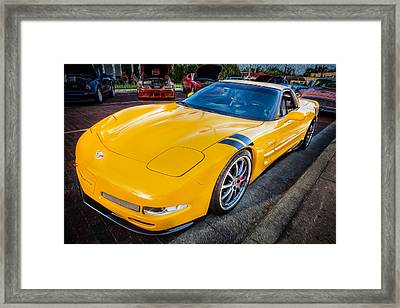2003 Corvette Ls1 5-7ltr Dons Painted Framed Print by Rich Franco