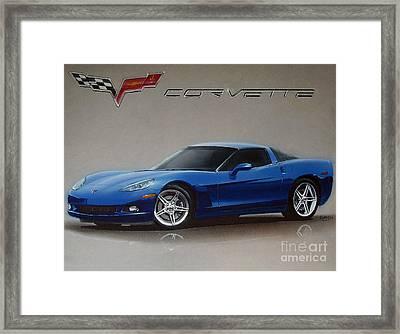 2005 Corvette Framed Print
