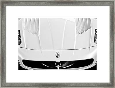 2005 Maserati Mc12 Hood  Emblem 2 Framed Print by Jill Reger