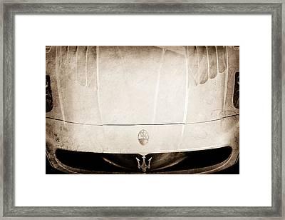 2005 Maserati Mc12 Hood Ornament Framed Print by Jill Reger