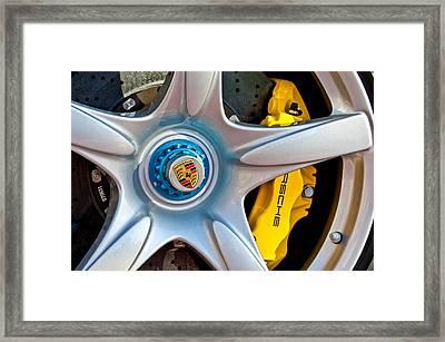 2005 Porsche Carrera Gt Wheel Emblem -3135c Framed Print by Jill Reger