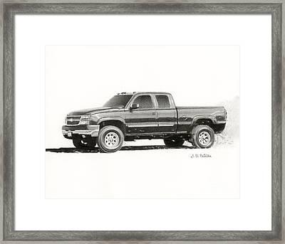 2006 Chevy Silverado 2500 Hd Framed Print