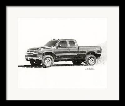 Truck Drawings Framed Prints