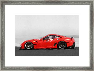 2006 Ferrari 599 Gtb Fiorano Watercolor Framed Print by Naxart Studio