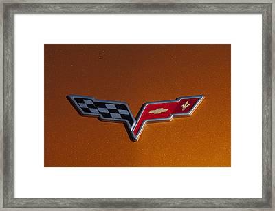 2007 Chevrolet Corvette Indy Pace Car Emblem Framed Print by Jill Reger