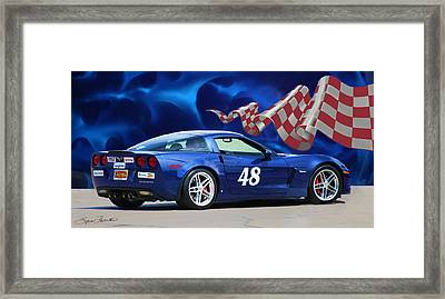 2007 Z06 Corvette Framed Print by Sylvia Thornton