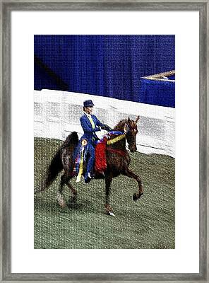 2008-b-world Championship Horseshow - Louisville Ky Framed Print by Thia Stover